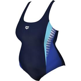 arena Threefold V Back Swimsuit Plus Women, blu